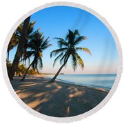 Last Sunbeams Round Beach Towel