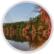 Late Afternoon On Lake Chocorua Round Beach Towel