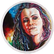 Laura Jane Grace Round Beach Towel