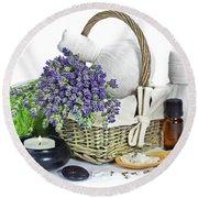 Lavender Spa Round Beach Towel
