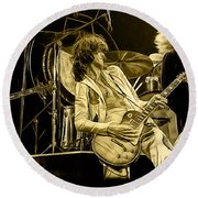 Led Zeppelin Collection Round Beach Towel