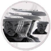 Lee Marvin Monte Walsh Variation 2 Old Tucson Arizona 1969-2012 Round Beach Towel