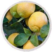 Lemon Tree Round Beach Towel
