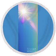 Let The Sunshine In.. Round Beach Towel