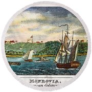 Liberia: Freed Slaves 1832 Round Beach Towel