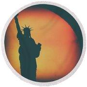 Liberty Sunset Round Beach Towel