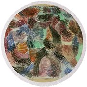 Libido Of The Forest Round Beach Towel