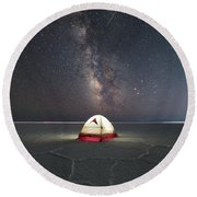 Life On Mars Round Beach Towel