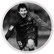 Lionel Messi 1 Round Beach Towel