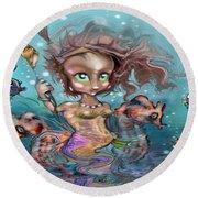 Little Mermaid Round Beach Towel
