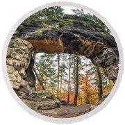 Little Pravcice Gate - Famous Natural Sandstone Arch Round Beach Towel