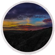 Lizard Point At Sunset  Round Beach Towel