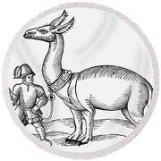 Llama, 1607 Round Beach Towel