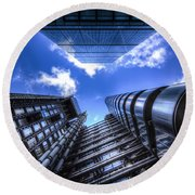 Lloyd's Of London And Cheese Grater Round Beach Towel