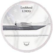 Lockheed L382g Round Beach Towel