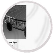 London Eye, London, Uk. Round Beach Towel