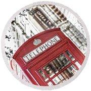 London Telephone 3b Round Beach Towel