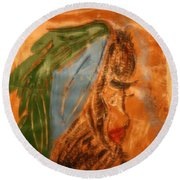 Longing - Tile Round Beach Towel