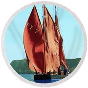 Looe Lugger 'our Daddy' Round Beach Towel