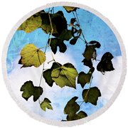 Look Up Again Round Beach Towel