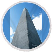 Looking Up At Bunker Hill Round Beach Towel