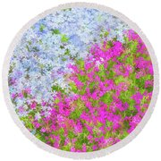 Pink And Purple Phlox Round Beach Towel