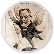 Louis Pasteur (1822-1895) Round Beach Towel