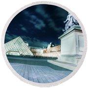 Louvre Museum 6b Art Round Beach Towel