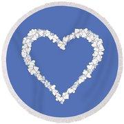 Love Heart Valentine Shape Round Beach Towel