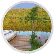 Lovely Lake Round Beach Towel