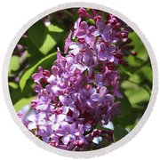 Lovely Lilacs Round Beach Towel