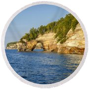 Lovers Leap Round Beach Towel