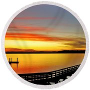 Lowcountry Autumn Round Beach Towel