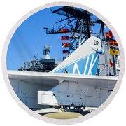 Ltv A-7 Corsair II  Round Beach Towel