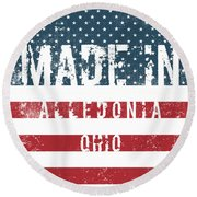 Made In Alledonia, Ohio Round Beach Towel