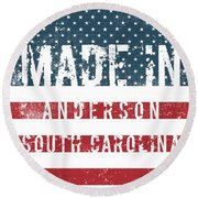 Made In Anderson, South Carolina Round Beach Towel