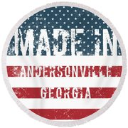 Made In Andersonville, Georgia Round Beach Towel