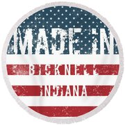 Made In Bicknell, Indiana Round Beach Towel