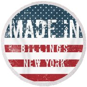 Made In Billings, New York Round Beach Towel