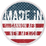 Made In Cannon Afb, New Mexico Round Beach Towel