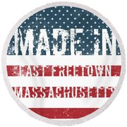 Made In East Freetown, Massachusetts Round Beach Towel