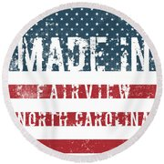 Made In Fairview, North Carolina Round Beach Towel