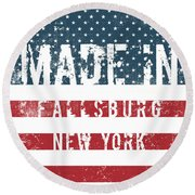 Made In Fallsburg, New York Round Beach Towel