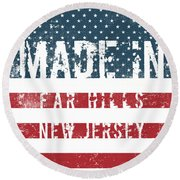 Made In Far Hills, New Jersey Round Beach Towel