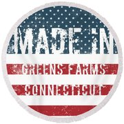 Made In Greens Farms, Connecticut Round Beach Towel