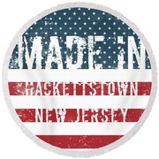 Made In Hackettstown, New Jersey Round Beach Towel