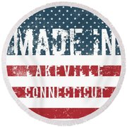 Made In Lakeville, Connecticut Round Beach Towel