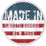 Made In North Bangor, New York Round Beach Towel