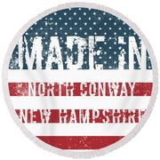 Made In North Conway, New Hampshire Round Beach Towel