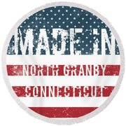 Made In North Granby, Connecticut Round Beach Towel